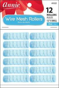 "Annie X-Small Wire Mesh Rollers 12-Pack - 1/2"" Diameter - #1021 *BLUE*"