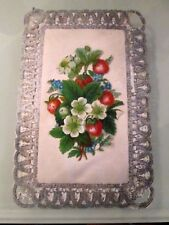 VICTORIAN PADDED SILK BIRTHDAY PAPER LACE CARD