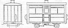 Single Comp.4 Wheel Coach (OO9 kit) - Dundas DM28 - F1