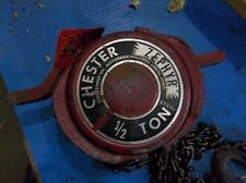 CHESTER ZEPHYR 1/2 TON HOIST 8FT 8'  (31)
