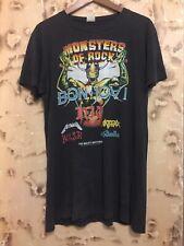 Vintage   Bon Jovi Monsters Of Rock  T Shirt  1987 Metallica Dio