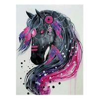 5D DIY Horse Head Diamond Painting Embroidery Cross Stitch Rhinestones Kit