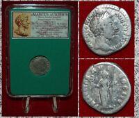 Ancient Roman Empire Coin MARCUS AURELIUS Liberalitas On Reverse Silver Denarius