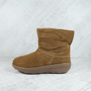 Womens Fitflop Mukluk Shorty 2 Chestnut Boots (AGF1) RRP £119.99
