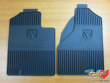 2003-2005 Dodge Ram 1500 2500 3500 Front Rubber Slush Floor Mat Set Mopar OEM