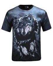 Wolf saltando a través de T-Shirt (Cool Wolf Tie Dye todo Camiseta de impresión)
