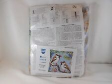 Vervaco Stamped Cross Stitch Pillow Kit - New - Early Birds
