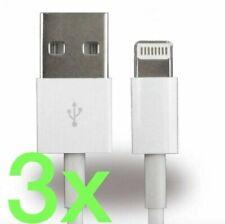 3x iPhone Kabel Ladekabel Lightning für Original Apple iPhone 5 | 5s | SE