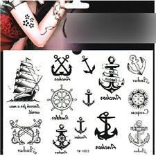 Nautical Sailor Theme Body Art Temporary Removable Tattoo Decal Paster Sticker