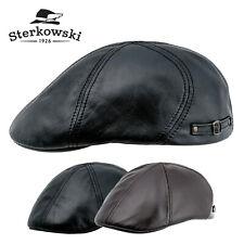 Sterkowski DODGER Leather Flat Cap Duckbill Vintage Irish Elegant Paper Boy