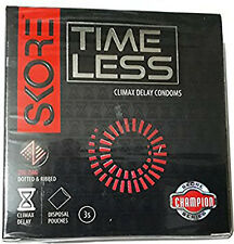 SKORE TIMELESS Climax Delay condoms 3s Variety packs with Disposable Pouches