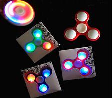 LED Light Up Hand Finger Spinner Torqbar Brass Fidget Toy EDC Focus Gyro Gift