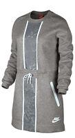 Nike Tech Fleece Splatter Dress - SIZE SMALL - NEW - 803020-063 Gray White Grey