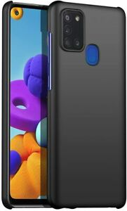 For Samsung Galaxy A21s Case Ultra Slim Hard Back Cover - & Camera Protector