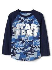 Nuovo Baby Gap Ragazzi Star Wars Maglia Blu Nero Camo Motivo, 3T con Etichetta