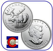 2012 Canada 1 oz Silver Maple Leaf Moose Roll -- 25 Canadian Coins in Tube