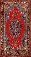 Vintage Geometric Traditional Area Rug Hand-knotted Oriental Wool Carpet 7x11