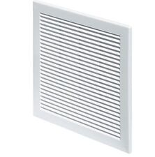 """White Air Vent Grille 300mm x 300mm with Fly Screen / Mesh 12"""" x 12 inch TRU10"""