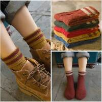 Vintage Knitting Women Thicken Wool Boot Socks Crew Socks Winter Warm Socks