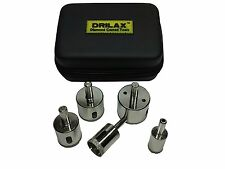 DRILAX Diamond Drill Bit Holesaw Set of 5 CASE 3/4, 1, 1-1/4, 1-1/2, 1-3/4 inch