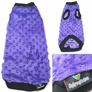 Purple Minky Fleece - Sphynx Cat Top, Devon Rex, Peterbald, Pet Cat Clothes