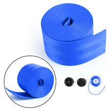 Car Seat Belt Webbing Polyester Seat Lap Retractable Nylon Safety Strap Blue New