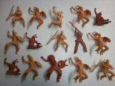 Convoluté 15 Antique Elastolin PLASTIQUE Figurines Ébauche Indianer Cowboys