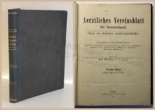 Heinze Ärztliches Vereinsblatt für Deutschland 9.-11. Band 1882-1884 Zeitschrift