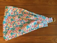 """New Handmade USA """"Baby Doll"""" Ring Sling Yellow Turquoise Fuchsia Floral Print"""