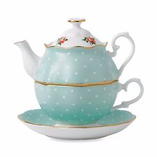 Royal Albert Tea Set for One in Polka Dot Roses NEW IN BOX