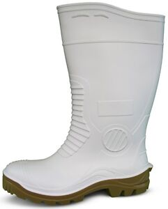 Traxium White Mens Heavy Duty Safety Gumboots - Brand New