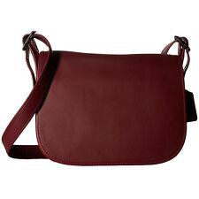 NWT Coach 55298 Saddle Bag in BURGUNDY Glovetanned Leather