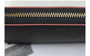 New Lulu Guinness Black Leather Crosshatched Continental Wallet Gift RRP £170
