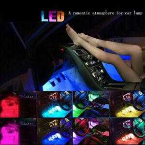 4X 36 LED Car SUV Interior Decor Neon Atmosphere Light Strip Control Color USA