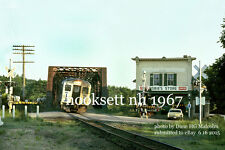 "Boston & Maine RR  Budd Passenger Train Hooksett, NH  1967 4x6"" photo a"