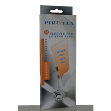Pirrella Ceiling Fan Sleeves Blade Covers - Washable, Capture Dust BROWN 12PK