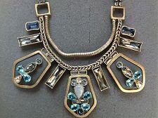 "SILPADA - KRN0017 - Labradorite Leather Crystal ""Blue Streak"" Necklace - RET"