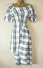 VIVIENNE WESTWOOD 38 Tartan Check Deconstructed Shirt Style Party Dress