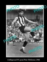 OLD LARGE HISTORICAL PHOTO OF COLLINGWOOD FC GREAT PETER McKENNA 1966