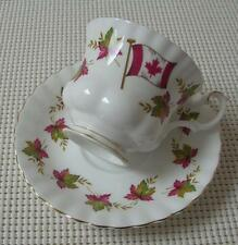 Royal Albert FROM SEA TO SEA China CUP & SAUCER Canada Maple Leaf Flag England