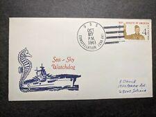 USS CONSTELLATION CV-64 Naval Cover 1961 WATCHDOG Cachet