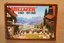 VOLLMER 5132 HO SCALE GARDEN FURNITURE with TRELLIS MODEL RAILWAY LAYOUT KIT np