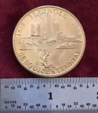 AUG. 26th 1818 - 1968 STATE SEAL of ILLINOIS SesquiCentennial Coin 150 Years '68