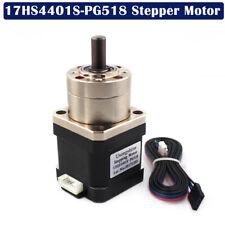 4-lead Nema17 Stepper Motor Ratio 5.18:1 Planetary Gearbox 17HS4401S-PG518