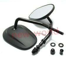 Tapered Teardrop Rearview Mirrors Long Stem For Harley Davidson Motorcycle US&CA