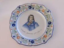 Assiette révolutionnaire Lunéville St Clément Camille Desmoulins XIX ème Siècle