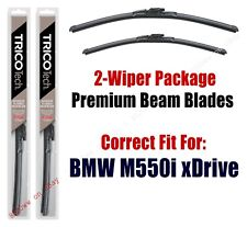 Wipers 2-Pack Premium Beam Wipers fits 2018+ BMW M550i xDrive - 19260/190