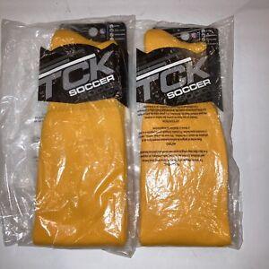 2-Qty TCK Soccer Tube Sock, Large, Gold also Football Baseball Soccer New