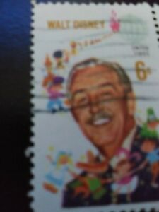 Walt Disney 6 cent stamp -United States - in very good condition