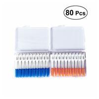 Dual Toothpick Oral 80 Pcs Interdental Cleaning Teeth Floss Dental Gum Brush